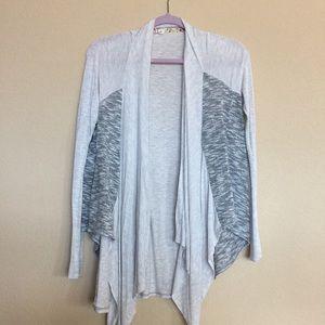 scrapbook Sweaters - Lightweight grey open front sweater