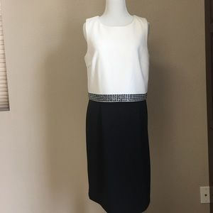 Saks Fifth Avenue Black Label Dresses & Skirts - Black and white dress with stud
