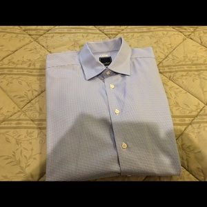 David Donahue Other - David Donahue  light blue micro check size L shirt