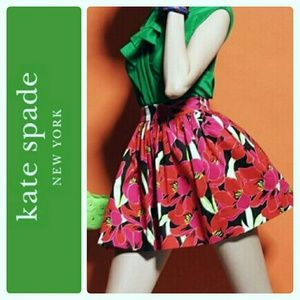 NWT Kate Spade Tropical Coreen Cupcake Skirt