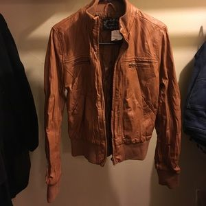 Ambiance Apparel Jackets & Blazers - Brown leather jacket