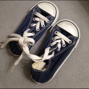 Converse Other - Baby unisex navy converse shoes size 5