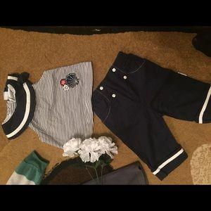 Vitamins Baby Other - Lil girls sailor suit 18 mths navy/white, Capri