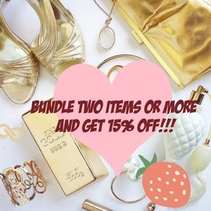 Bundle any two items get 15% off