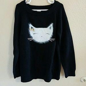 Gymboree Other - Gymboree NWT Adorable Black Fuzzy Cat Sweater