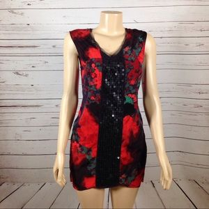 Simply Vera Vera Wang Dresses & Skirts - Simply Vera mini dress tunic red black size S