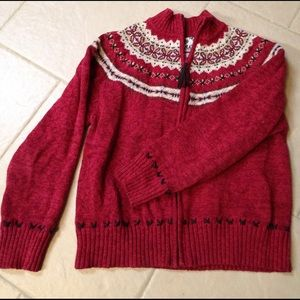 Tiara Sweaters - Nordic style cardigan with cute leatherlike detail