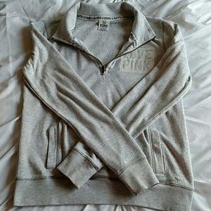 Half zip PINK sweatshirt sz-XS