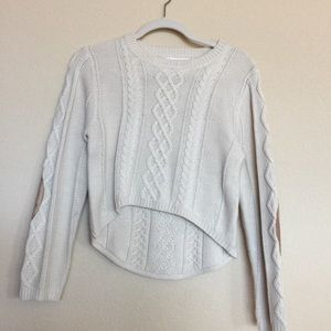 Sweaters - Crop sweater with elbow patches