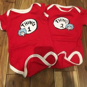 Bumkins Other - Dr Seuss Onesies for Twins 3 mon