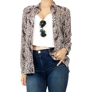 Zara Tops - Zara paisley print button down