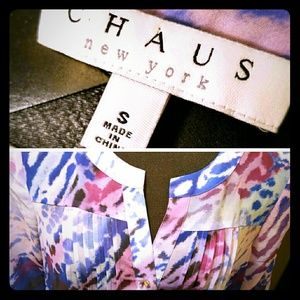 *FINAL* Chaus Multicolor Pintuck Blouse (NWT)