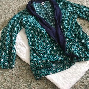 Teal and Navy Casual Blazer