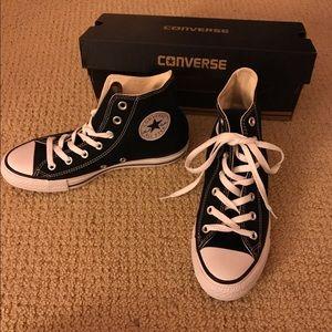 Converse Shoes - Black High Top Converse (Women's) - Size 7.5