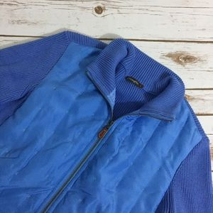 J. McLaughlin Sweaters - J. McLaughlin Blue Quilted Sweater Jacket Cardigan