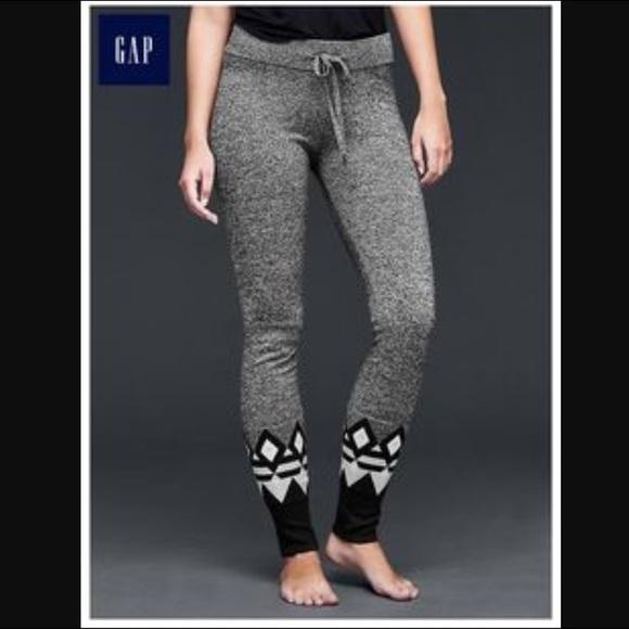 67% off GAP Pants - NWOT Gap Body Fair Isle sweater leggings sz S ...