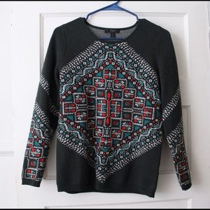 J. Crew Embroidered Crewneck Sweater