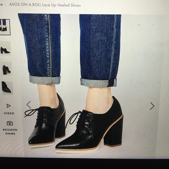 Iso Asos On A Roll Lace Up Heeled Shoes