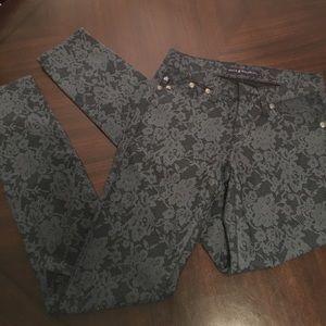 Rock & Republic Denim - Rock & Republic black floral jeans