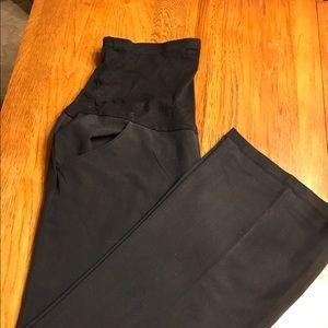Pants - Maternity full band black slacks. Worn once.