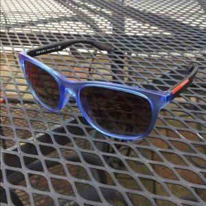 Prada Other - Prada Sport SPS03O Matte Blue Sunglasses