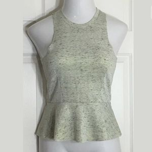 Bar III Tops - Bar III Gray Sleeveless Peplum Scuba Blouse