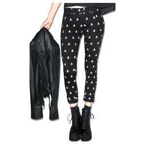 Tripp nyc Denim - Dolls Kill Tripp NYC Skull Print skinny jeans