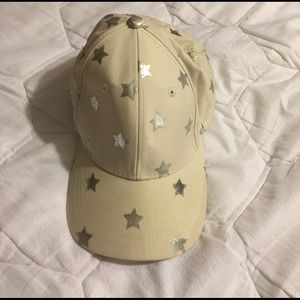 San Diego Hat Company Accessories - Off-white  hat with silver star accents