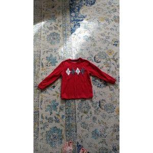 Red Sonoma Argyle Boys Sweater