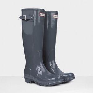 Hunter boots original tall graphite new in box