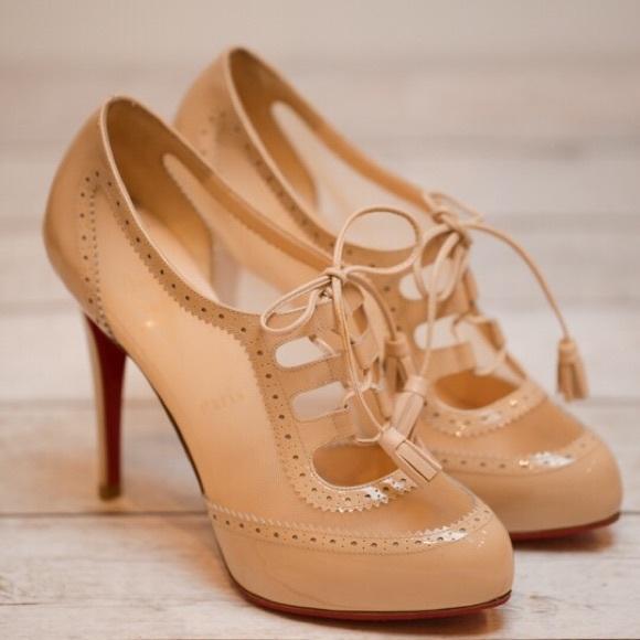 christian louboutin oxford heels