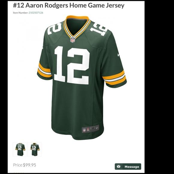 online retailer 88ea1 2f543 Green Bay packers Aaron Rodgers jersey