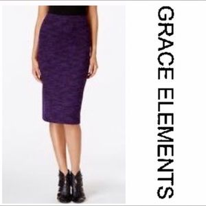 ✨❗️SALE❗️✨Grace Elements Purple Tweed Skirt