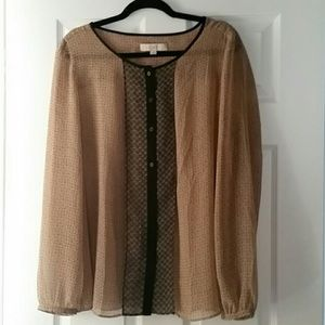 Sheer Ann Taylor LOFT Blouse Tunic