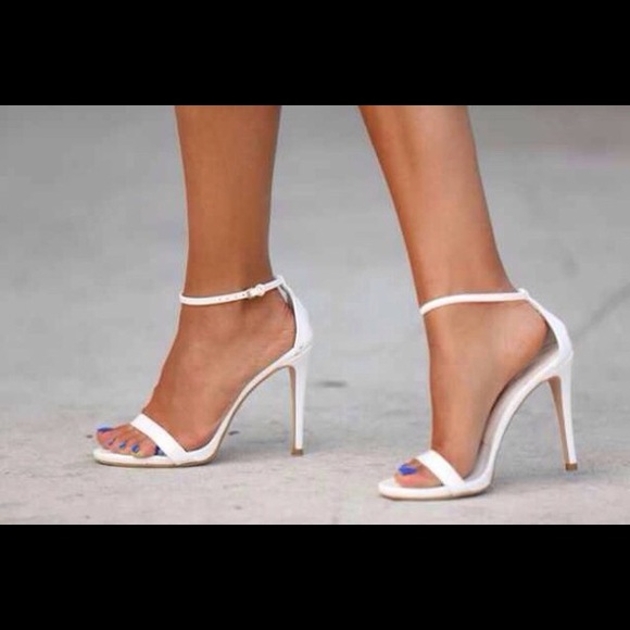 Zara Shoes   Zara Thin White Strap