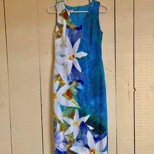 Maggy London Dresses & Skirts - BNWOT Maggie London Blue Floral midi