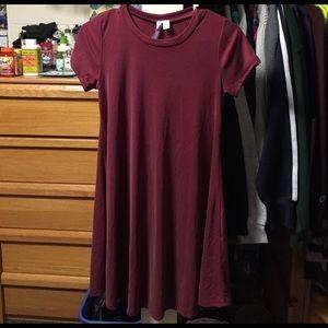 Maroon Light Sweater Dress