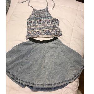 H&M Dresses & Skirts - Acid Wash Swing Skirt