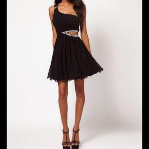 Little Mistress Dresses & Skirts - 🆕 Jeweled Cut Out One Shoulder Dress 🖤