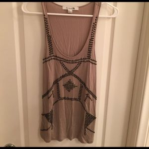 Forever 21 beige Tank with studs Sz S