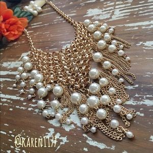 Jewelry - Just In✨Glamorous Pearls Tassel Necklace Set✨