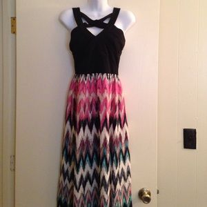 Crystal Doll Dresses & Skirts - Colorful maxi dress with Criss cross top