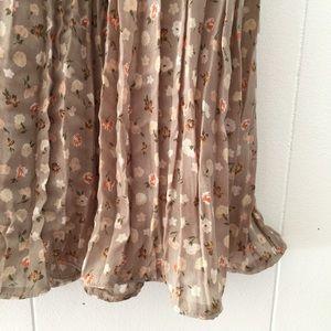 Vintage 90's Mini Floral Crinkle Skirt // Medium