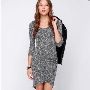 Lulu's Dresses & Skirts - Lulus Marl My Words Black and Ivory Midi Dress