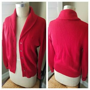 Ralph Lauren Red Cardigan Sweater