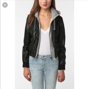 Obey Jackets & Blazers - Obey leather sweatshirt jacket