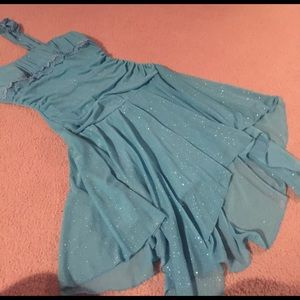 taboo Dresses & Skirts - Size L Aqua blue strapless dress with sparkles