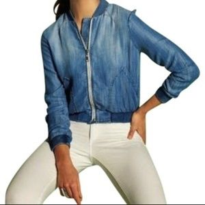 cloth & stone Chambray Bomber - Anthropologie - XS