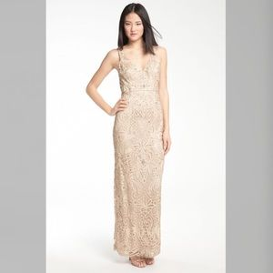Sue Wong Dresses & Skirts - Sue Wong VNeck embroidery & bead overlay gown