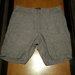 Saks Fifth Avenue Black Label Other - Saks Fifth Avenue Gray Linen Shorts Size 34